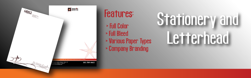 Stationery Stationary Letterhead Print Products
