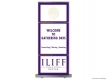 Iliff School of Theology Gathering Days (RUBS) Roll Up Banner Stand