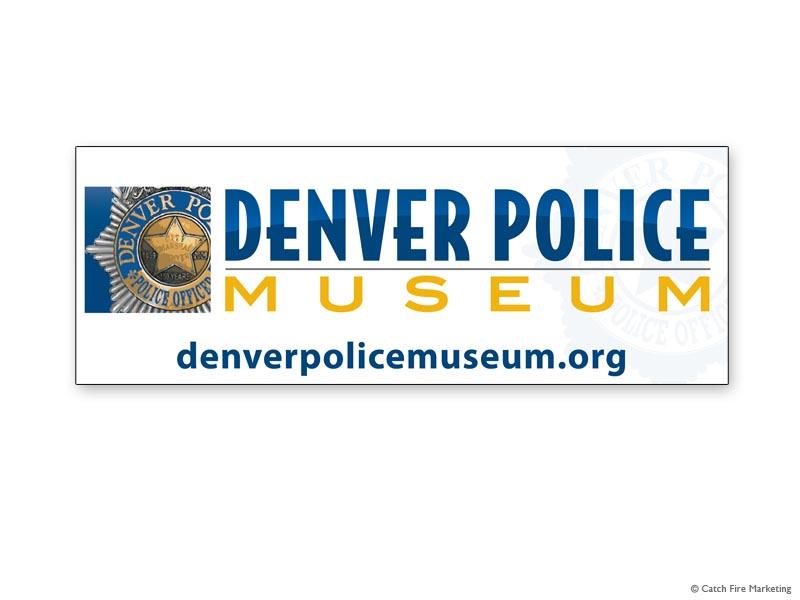 Denver Police Museum 22x8 Custom Car Magnet