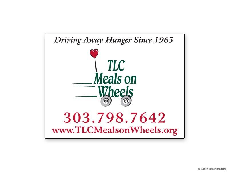 TLC Meals on Wheels Car Magnet