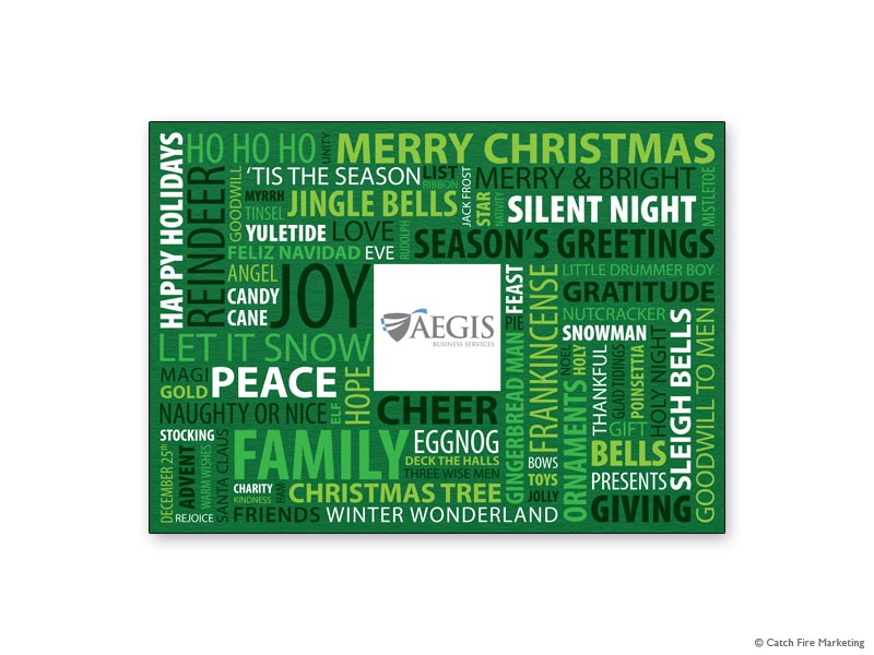 wordle christmas green - Electronic Holiday Cards