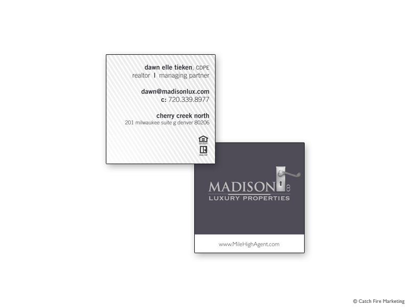 Real estate business cards madison co business card 2 dawn tieken colourmoves