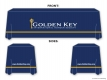 Golden Key Table Drape