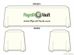 Payroll Vault Table Drape