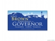 Jaimes Brown Governor Vinyl Banner